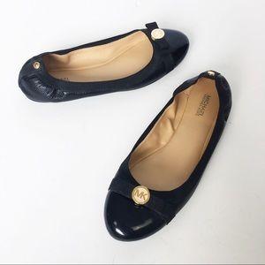Michael Kors black leather ballet flat 9